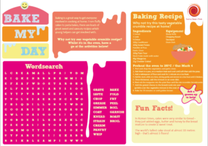 Preview of the bake my day activity sheet